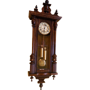 2 weight Vienna Regulator style wall clock