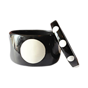 SALE Black and White Polka Dot Bangle Bracelets