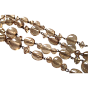 Venetian Foil Glass  Beads  Gold Tones
