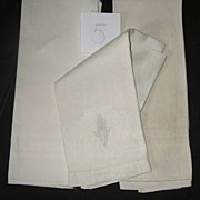 Three Piece Victorian Hand Show Towels group  #5