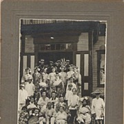 Theatre Troop in Bury Quebec in Japanese Costume  1911 Black and White Photo