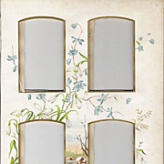 SALE PENDING Victorian Photo Album Matte Page with Chromolithograph Flowers