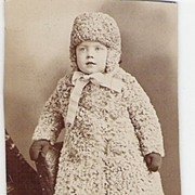 SOLD Toddler in Persian Lamb & Hat Cabinet Card - Red Tag Sale Item