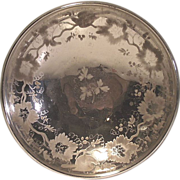 Victorian Decorated Mercury Glass Bowl
