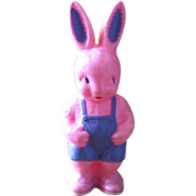 1950's Hard Plastic Irwin Easter Bunny Rabbit - Rattle