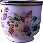 Hand Painted Cache' Pot Floral Bouquet