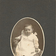 Little Vermont Boy with Brooch on Christening Gown Collar Cabinet Card