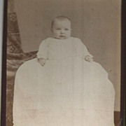 """Pudgy"" Sweet Baby in Very Long Christening Gown Montreal Photo"