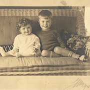 SOLD The VERY Cutest Real Photo of Brother and Sister Circa 1928
