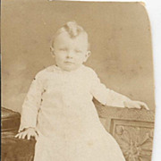 Baby in High Boots Edwardian Whites & Mullet Hairdo! Real Photo