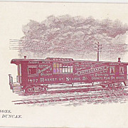 Parsons & Duncan Palace Railway Car Photography Cabinet Card    R.R.