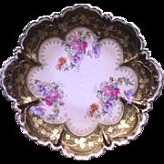 German Porcelain Floral Plate  Hand Painted