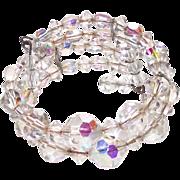 Aurora Borealis Glass Stretch bangle Bracelet