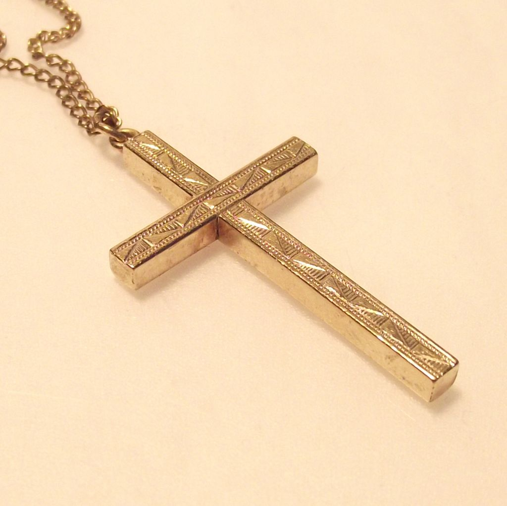 12kt. Gold fill Cross with Original Chain from ...
