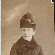 SOLD Well Dressed Victorian Woman with Fur Muff