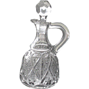 SALE Vintage EAPG Cruet Diamond number 488 made by Ohio Flint Glass Co circa 1896
