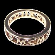 Hidalgo Ring  sz 6 Gold Wash over Sterling  Three Small Diamonds