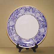 Gorham Plate Struggle for Independence of the United States of America   Blue and White