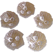 "Fostoria ""Grape Leaf"" Open Salt Cellars Dips 1935-1940"