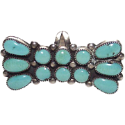Sterling and Turquoise Ring Artist Signed: Julie O Lahi