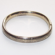 SALE Vintage Young Girls Bangle Bracelet 12Kt Gold Fill