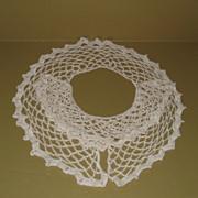 Hand Crocheted Dress Collar and Matching Cuffs