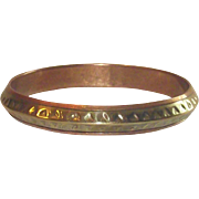 Vintage Copper and Brass Bangle Bracelet