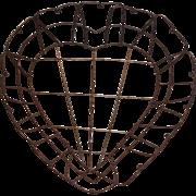 SALE Victorian Heart Shaped Wire Basket