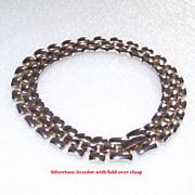 Silver Tone Panther Link Bracelet