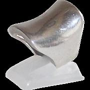 Sterling English Saddle Shaped Ladies Ring sz.6