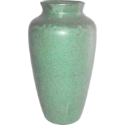 Arts and Crafts Matte Green Tall Vase by Zanesville Stoneware
