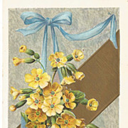 Yellow Butter Cups in Blue Easter Egg Post Card