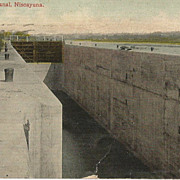 Lock Number Seven 7 on the Erie Canal  Post Card