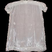 1920s White Satin Baby Sunday Best Dress