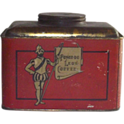 Ponce de Leon Coffee Tin