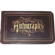 Victorian Autograph Album 1880s  Many New Hampshire Signatures