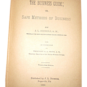 1890 1st Edition Business Guide - Safe Methods of Business