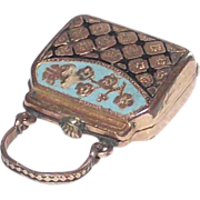 Victorian Taille Epergne Enamel Ladies Purse Shape Locket