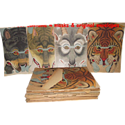 1903 Four Halloween Masks  Paper and Unused  10 Complete Sets of 4