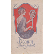 SALE Vintage Beauty Notebook 1927 - 1928  by Milady's