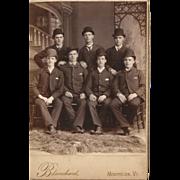 SOLD 7 Dapper Dan's Bowler Hats and Pocket Squares Cabinet Card
