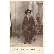 SOLD Indian Territory Old Man Cabinet Card