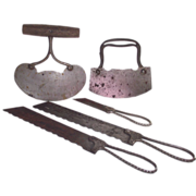 SOLD 3Pc Freemont Clauss Knives - 2 Serrated Bread Knives - 1 Cheese & 2 Pc Chopper - Rocker C