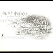 Victorian Book Plates by Irene E. Jerome Birds-Flowers-Children-Scenic 6pc. For Framing - grou