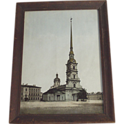 St. Peter and Paul Real Photo Dated 1911 St Petersburg Russia Hand Tinted
