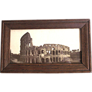 Real Photo Sepia Tone Circa 1900 Rome Colosseum
