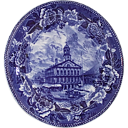 Wedgwood Blue and White 1898 Faneuil Hall Boston Plate