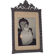 Victorian Era Picture Frame with Crown at Top