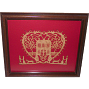 SALE PENDING Scherenschnitte American Paper Cut of Heart with Home – Man – Woman †...