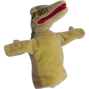 Steiff Gaty the Alligator Hand Puppet circa Mid 1960's